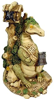 Bucket Life List Dragon Figurine with Binoculars Squirrel Dragonfly Mice By E. Vincent - 4.25x2.5""