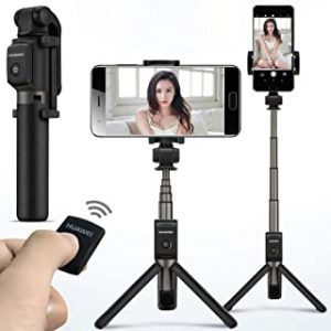 Bluetooth Selfie Stick Tripod Portable Wireless BT3.0 Control Monopod Handheld For Mobilephone Black Huawei Honor AF15 for iOS Android Huawei iPhone Samsung Smartphone