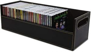 Leather Travel Waterproof Portable Stock Your Home Cd Storage Box with Powerful Magnetic Opening