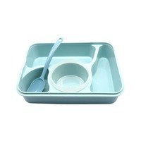 Generic - Plastic Lunch Box Microwave Blue...