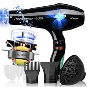 3000W Salon Hair Dryer Professional Negative Ion Blow Dryers