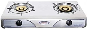Geepas 2 Burner Stainless Steel Gas Cooker - Gk73