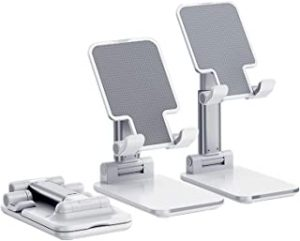 TyCom Phone Stand Multi-Angle Adjustable Desk Mount Holder Compatible for New iPhone11/11 Pro/11 Pro Max/Xs Max XR 8 Plus 6 7 6S X 5