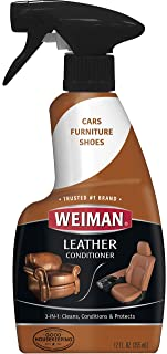 Weiman Leather Cleaner and Conditioner UV Protection Help Prevent Cracking or Fading of Leather Couches
