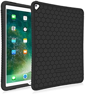 Fintie iPad Pro 12.9 Case - [Honey Comb Series] Light Weight Anti Slip Kids Friendly Shock Proof Silicone Protective Cover for Apple iPad Pro 12.9 2nd Gen 2017 / 1st Gen 2015