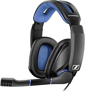 Sennheiser GSP 300 Around Ear Closed Acoustic Gaming Headset - Black/Blue (Pack of 1)