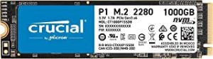 Crucial P1 3D NAND NVMe PCIe M.2 SSD 1TB CT1000P1SSD8