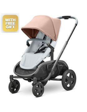 Quinny Hubb Cork On Grey Stroller With Free Maxi-Cosi Cabriofix Car Seat
