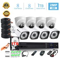 XBW - 8Channel CCTV Security Kit 1080P/2.0MP 1920X10...