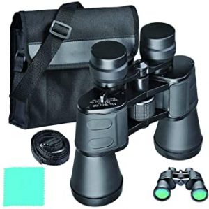 Professional Hd Binoculars Powerful 8X to 24X Telescope Wide Angle Long Range Binocular Telescope Night Vision BAK4 Prism for Camping Hunting Concert