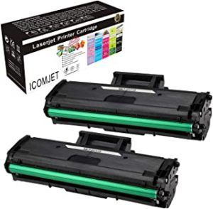 ICOMJET 2pack 1500page Compatible Toner Cartridge Replacement for Samsung MLT-D111S D111S Use with Samsung Xpress M2020W M2021W M2022W M2026W M2070FW M2070W Laser Printer