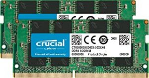 Crucial 16GB Single DDR4 2400 MT/s (PC4-19200) DR x8 SODIMM 260-Pin Memory - CT16G4SFD824A 64GB Kit (32GBx2) Single Rank CT2K32G4SFD8266