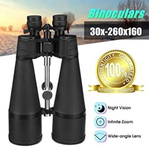 Binoculars 30-260X160 Powerful Zoom Professional Telescope HD Vison High Times Binocular Long Range for Hunting Stargazing Outdoor Adults Binoculars