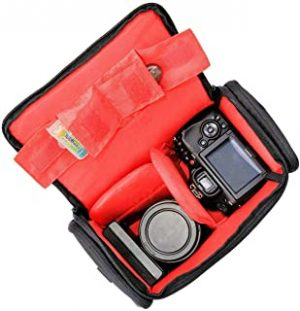 COOPIC Large Waterproof Anti-shock Camera Case Bag Compatible for Canon SX540 SX530 SX60 SX420 HS M5