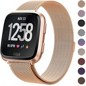 Milanese Metal Bands Compatible for Fitbit Versa Bands/Versa Lite Edition Bands for Women Men
