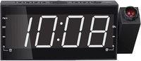 NuSense Projection AM FM Radio Alarm Clock with Adju...
