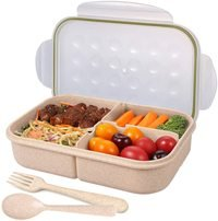 NuSense Bento Box for Adults Wheat Lunch box for Kid...