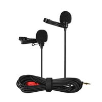 Esonmus-Dual-head Lapel Clip-on Microphone Mic Omnid...