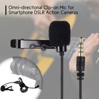 Esonmus-Lavalier Microphone Omni-directional Clip-on...