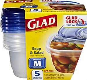 Glad Soup and Salad Food Storage Containers