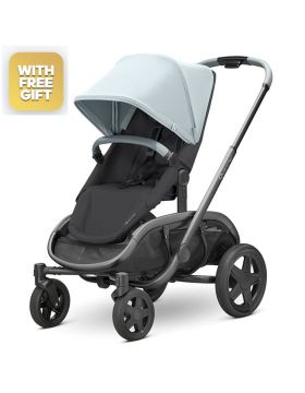 Quinny Hubb Frost On Black Stroller With Free Maxi-Cosi Cabriofix Car Seat