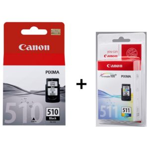 Canon PG510 Inkjet Cartridge Black + CL511 Cartridge Color