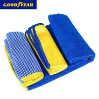 GOODYEAR Microfiber Cleaning Cloth Towel Set Car Was...