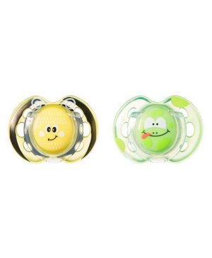 Tommee Tippee Closer To Nature Fun Style Soother Green 2Pcs 0-6m