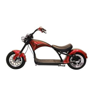 Crony Harley X1 Electrocar Red 2000W Citycoco Electric Motorcycle