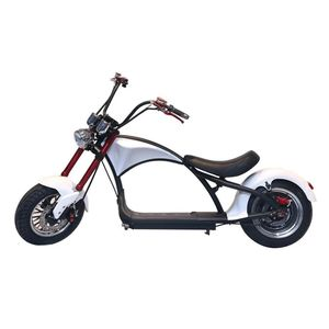 Crony Harley X1 Electrocar White 2000W Citycoco Electric Motorcycle