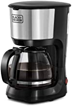 Black+Decker 750W 10 Cup Coffee Maker/ Coffee Machine with Glass Carafe for Drip Coffee