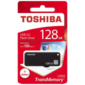 Toshiba U365 Trans Memory USB Flash Drive 128GB Black THNU365K1280E4