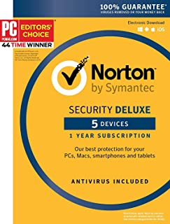 Symantec Norton Security Deluex 5 Devices 1 Year Subscription Product Key
