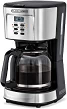 Black+Decker 900W 12 Cup 24 Hours Programmable Coffee Maker with 1.5L Glass Carafe and Keep Warm Feature for Drip Coffee and Espresso