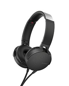 Sony MDR-XB550AP Extra Bass Headphones With Mic For Calls Black