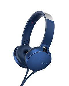 Sony MDR-XB550AP Extra Bass Headphones With Mic For Calls Blue