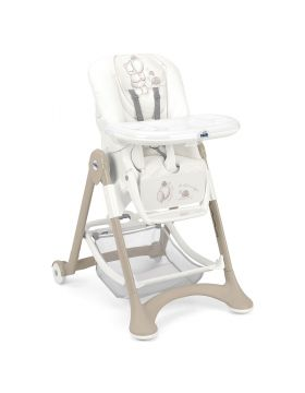 Cam Campione High Chair White & Beige
