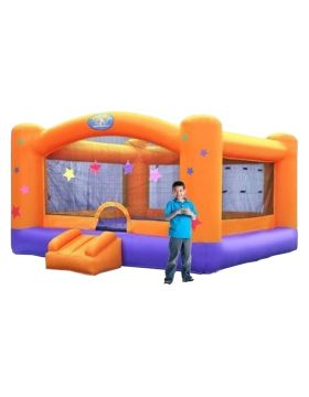Megastar Bounce Castle Orange & Purple