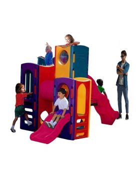 Megastar Play House With Hiding Cells & 2 Slides Assorted