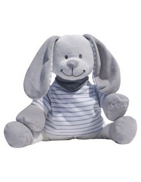 Babiage Doodoo Back to sleep baby monitor Grey Stripes Rabbit Doodoo