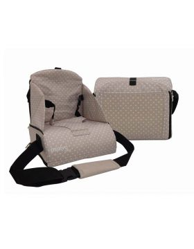 Asalvo Go Anywhere Booster Seat - Stars Beige