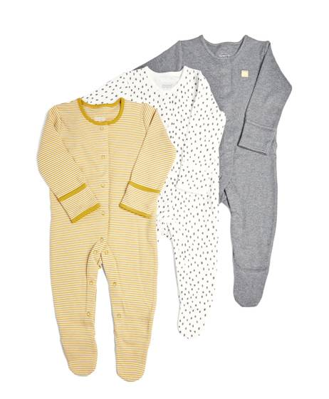 3 Pack of Stripe/Spot Sleepsuits