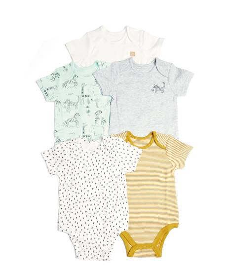 5 Pack Mixed Unisex Bodysuits