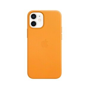Apple Leather Case California Poppy with MagSafe for iPhone 12 Mini