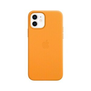 Apple Leather Case California Poppy with MagSafe for iPhone 12/12 Pro