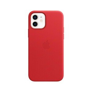 Apple Leather Case (Product) Red with MagSafe for iPhone 12/12 Pro