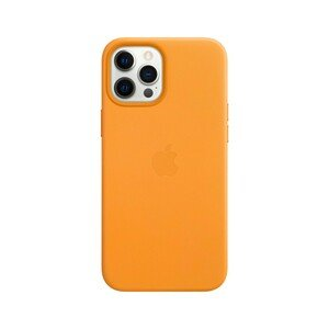 Apple Leather Case California Poppy with MagSafe for iPhone 12 Pro Max