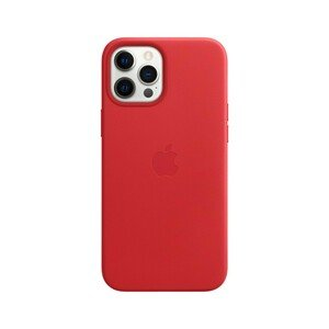 Apple Leather Case (Product) Red with MagSafe for iPhone 12 Pro Max