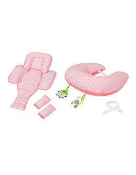 ClevaMama ClevaFoam Nursing Pillow and Baby Nest - Coral