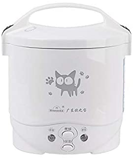 FOCUHUNTER Mini Rice Cooking 1-3 Cup Uncooked Portable Rice Cooker 1L Small Capacity Stainless Steel Steamed